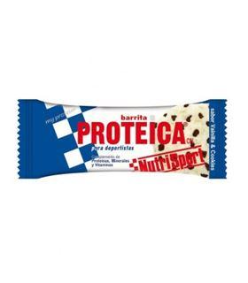 NUTRISPORT BARRITA PROTEICA VAINILLA Y COOKIES
