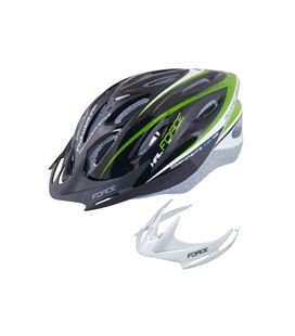 CASCO FORCE HAL NEGRO/VERDE L-XL